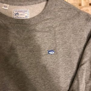 Southern Tide Sweaters - Southern Tide Upper Deck Sweater (Gray, Medium)